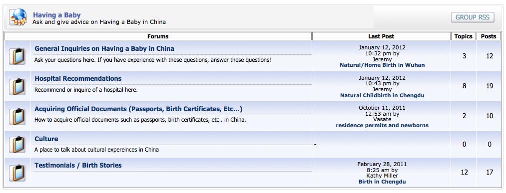 Having a Baby in China Forum